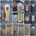 Plaque de groupe de bière plaque métallique numéro de voiture signe en étain Bar Pub café décor de