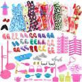 Accessoires de poupée pour Barbie, 83 pièces aléatoires, chaussures, bottes, Mini robe, sacs à main,