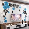 Autocollant Mural 3D stéréo fleur créative, décoration de fond chaude, grande taille, décoration