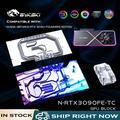 Bykski N-RTX3090FE-TC, Refroidissement Actif GPU Backplate Bloc Pour NVIDIA RTX3090 Founder