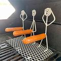 Grill Steel Hot Dog Marshmallow Roasters, Women men hot dog barbecue fork outdoor BBQ stainless steel hot dog barbecue fork for boys, Bonfire, Grill, Funny Girl Boy Shaped Reusable Stainless Steel Cam
