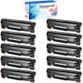 NineLeaf High-Yield Compatible Toner Cartridge Replacement Compatible for HP 78A CE278A Laserjet Pro P1606DN M1536DNF M1536 P1566 P1560 P1606 (Black, 10 Pack)