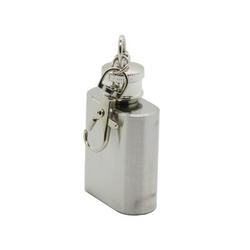 Prep & Savour® Portable 1Oz Mini Stainless Steel Hip Flask Alcohol Flagon w/ Keychain 1F454D0AEF134F77910A762CC346820E Stainless Steel in Gray