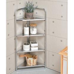 Rebrilliant 4-tier Corner Shelf, Heavy Duty Steel Frame Corner Shelving Unit in Gray, Size 37.7 H x 12.4 W x 17.0 D in | Wayfair