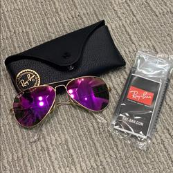 Ray-Ban Accessories   *Nwt Ray Ban Polarized Sunglasses   Color: Gold/Pink   Size: Os