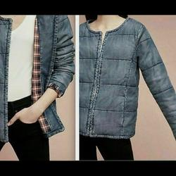 Anthropologie Jackets & Coats | Cloth & Stone Xs Quilted Denim Jacket Chambray | Color: Blue | Size: Xs
