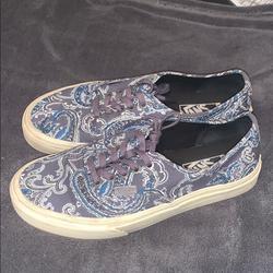 Vans Shoes   Men Vans Sz 7 Gray And Blue   Color: Blue/Gray   Size: 7