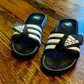 Adidas Shoes | Adissage Slide Sandals Mens 7 | Color: Black/White | Size: 7