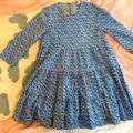 Zara Dresses | Girls Summer Dress | Color: Blue/White | Size: S