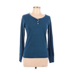 Nike x ACG Long Sleeve Henley Shirt: Blue Tops - Size Medium