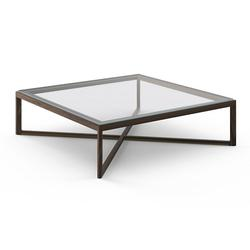 Knoll Krusin Square Coffee Table with Glass or Laminate Table Top - MK14-G2-AW - Knoll Authorized Retailer