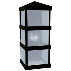 Arroyo Craftsman Barcelona Tall Outdoor Wall Sconce - BAW-10CLR-BK