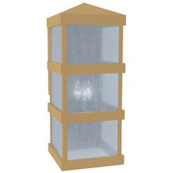 Arroyo Craftsman Barcelona Tall Outdoor Wall Sconce - BAW-10CLR-AB
