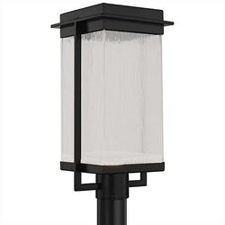 Justice Design Group Fusion Pacific LED Outdoor Post Light - FSN-7543W-WEVE-MBLK