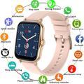 GEJIAN – montre connectée P8 Plus pour femmes, écran tactile de 1.7 pouces, moniteur d'activité