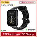 """Realme – montre connectée Watch 2 pro, écran couleur 1.75 """", double Satellite, GPS 90 Modes"""