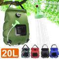 Pommeau de douche solaire, 20l, sacs d'eau, Camping en plein air, pliable, chauffant, randonnée,