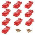 10pcs Red Octopus Shape Ceramic Knobs/Handles/Pulls for Kitchen Cabinets,Cupboards,Wardrobe,Drawer,Dresser,Bathroom Furniture Doors,etc -Mediterranean Style Decor