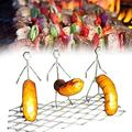Zzaoxin Steel Hot Dog Marshmallow Roasters, Women men hot dog barbecue fork outdoor BBQ stainless steel hot dog barbecue fork for boys, Bonfire, Grill, Funny Girl Boy Shaped Reusable Stainless Steel C