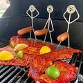 DABINBIN hot Dog Grill Holder Hotdog Cooker Campfire Skewer Sticks Metal Campfire Roasting Sticks Barbecue hot Dog Rack Fun Humanoid Forks hot Dog hot Dog Roasting Sticks hot Dog Grilling Basket (C)