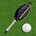 Golf Ball Picker Retriever Shagger Tube, Portable Detachable Zipper Pick-up Storage Bag Balls, Golf Shag Bag Grabber Pocket with Scooping Device Tube Retriever Hold Up 80 Balls