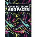 Big Notebook 600 Pages: Giant Notebook, Thick Journal/Notebook 600 Pages, Numbered pages, Size 8.27 x 11,69 Inches (A4), Perfect for Essay Writing, Taking Notes and Jotting Ideas