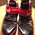 Nike Shoes | Nike Lebron Soldier 8 Basketball Shoe Size Size 6y | Color: Black/Red | Size: 6b