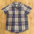 Burberry Shirts & Tops | Burberry Blue Checked Cotton Shirt -5t | Color: Blue | Size: 5tb