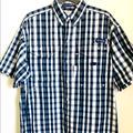 Columbia Shirts   Columbia Mens Bonehead Button Up Golf Shirt Pfg   Color: Blue/White   Size: S