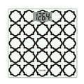 Taylor Digital Glass Bathroom Scale-/White Lattice in Black, Size 1.04 H x 11.8 W x 11.8 D in   Wayfair 755841932BWL