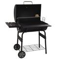 """Waful Multi-function Stainless Steel Charcoal 30"""" Barrel Bbq Grill Barbecue Smoker Barbecue Smokers Tool Kits For Outdoor Picnic Patio Backyard Camping Cook"""