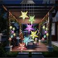 4 Pack Type Star Wind Chime LED Blossom Flowers Solar Lights for Garden Patio Backyard Stake Lamp Home Decor Garden Decor Outdoor Decor Yard Decor Garden Decor for Outside Fairy Garden