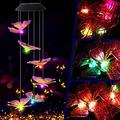 Mi Cielito Color Changing LED Large Butterfly Chimes Home Garden Decor Light Wind Chimes Outdoor Decor Patio Decor Yard Decor Wind Chime Porch Decor Chimes for Outside