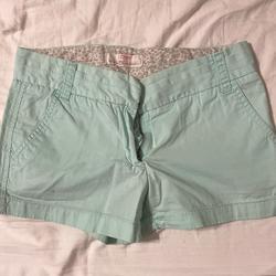 J. Crew Shorts | J Crew Linen Chino Shorts 100% Cotton Jcrew Mint | Color: Blue/Green | Size: 0