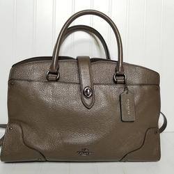Coach Bags   Coach Mercer 30 Satchel Crossbody Shoulder Bag   Color: Brown/Green   Size: Os