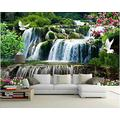MAZF Custom Photo 3D Wallpaper New Chinese Ink Lotus Flower Painting Home Decor 3D Wall Mural Wallpaper for Living Room 460 cm (B) x 280 cm (H)