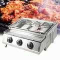 Portable Gas Grill 3-Burner Tabletop BBQ Propane Gas Grill Barbecue Gas Camping Cooking Stove + Sink + Steel Shield for Outdoor Grilling Camping Picnic Traveling