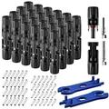 1000V 30A Solar Panel Connectors Tool Set with 1 Pair Spanners Cable Solar Panel Adapters Solar Panel Kit (12 Pairs) (24)
