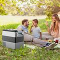 Costway 53 Qt. Portable Car Cooler in Black/Gray, Size 13.5 H x 27.0 W x 21.0 D in | Wayfair EP24414US