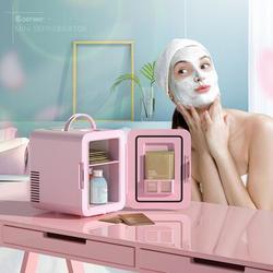 Costway 4 Liter Mini Fridge Portable Cooler Warmer Makeup Skincare Refrigerator WhitePlastic in Pink, Size 12.0 H x 8.0 W x 10.0 D in   Wayfair