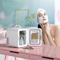 Costway 4 Liter Mini Fridge Portable Cooler Warmer Makeup Skincare Refrigerator Plastic in White, Size 12.0 H x 8.0 W x 10.0 D in | Wayfair