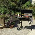 "EGOONM Multi-Function Stainless Steel 30"" Barrel w/ Matching WheelsGrillBarbecueFor Outdoor Picnic/Camping Cooking(Black)   Wayfair GR-W70528961"