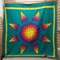 Native American Star 3D Quilt Quilt Sets Birthday Gifts Bedding Cover Patchwork Tapestry Wall Hanging Quilt Gifts Gift Quilts for Dad Mom