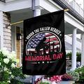 "Memorial Day Garden Flag, Honor the Fallen Heroes, Yard Flag, Memorial Day Flag, Honor Our Veterans, Seasonal Garden Flag, USA Flag House Flag, Garden Flag (House Flag 29.5""x39.5"")"