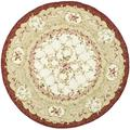 Safavieh Chelsea Oriental Hand Hooked Wool Ivory Area Rug Wool in White, Size 36.0 H x 36.0 W x 0.25 D in | Wayfair HK73A-3R