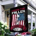 """Memorial Day Garden Flag, Honor The Fallen, Thank The Living, Memorial Day, Veteran'S Garden Flag, Seasonal Yard Flag, House Flag, Garden Flag (House Flag 29.5""""x39.5"""")"""