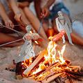 BAOBUM Barbecue Fork Hot Dog BBQ Skewers Stainless Steel Funny Novelty Metal Skewer Stick Women Men Shaped Skewers Ham Corn BBQ Skewers Barbecue Forks for Campfire,Bonfire and Grill 2pcs