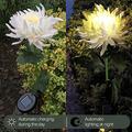 MELDVDIB Outdoor Solar Rose Flower Lights, Multi-Color Garden Decorative Lights, Changing Decorative Landscape Lighting Outdoor Waterproof for Pathway,Garden, Patio, Yard, Walkway (2PC White)