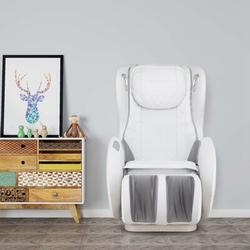 Inbox Zero Massage Chairs SL Track Full Body & Recliner, Shiatsu Recliner, Massage Chair w/ Bluetooth Speaker-Beige Faux Leather in Brown | Wayfair