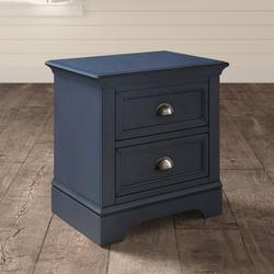 Greyleigh™ Alicea 2 - Drawer Nightstand Wood in Blue/Brown, Size 25.5 H x 25.0 W x 18.0 D in   Wayfair 8E0614EE236E4A1A83CE6417D0A92AFB